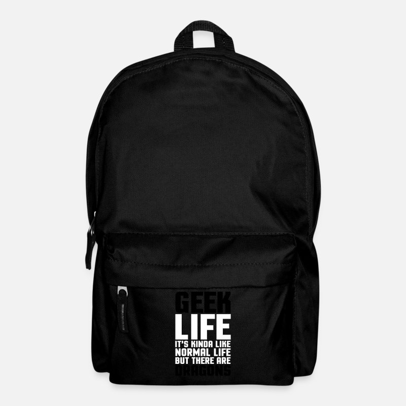 Quotes Bags & Backpacks - Geek Life  - Backpack black