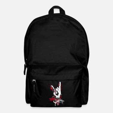Metal and rock hand sign - Backpack