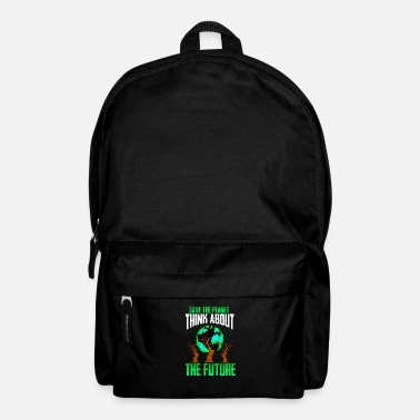 Brand Climate Change print Youth Strike Environmental - Backpack