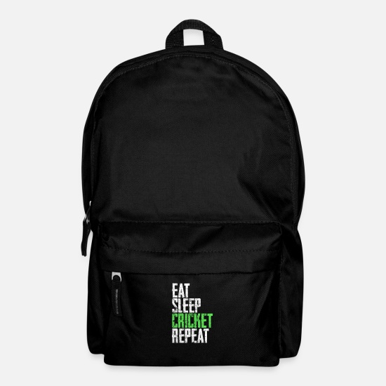 Gift Idea Bags & Backpacks - Cricket daily routine - Backpack black