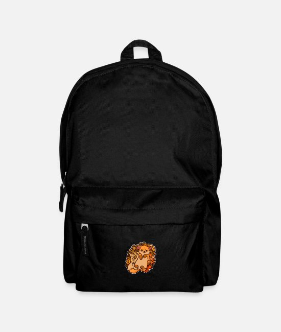 Autumn Bags & Backpacks - Autumn, autumn time, foliage - Backpack black