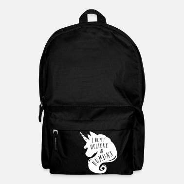 I don´t believe in humans - unicorn - Backpack