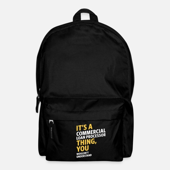Commercial Bags & Backpacks - Commercial Loan Processor - Backpack black