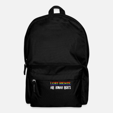 Human Rights Human rights - LGBT rights are human rights - Backpack