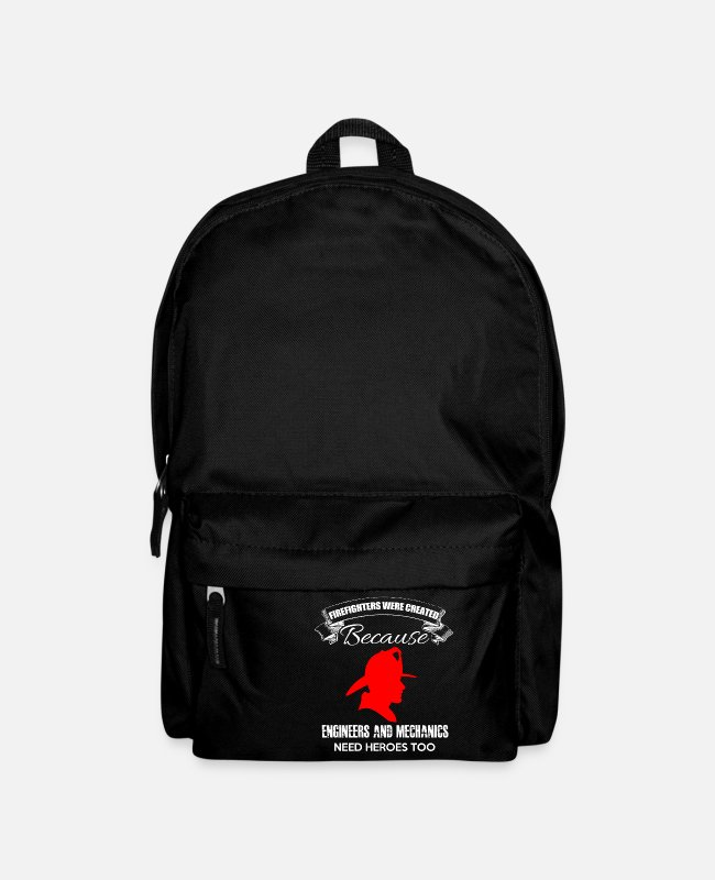 Fire Department Bags & Backpacks - Firefighters firebrigade fire defense defender new ho - Backpack black
