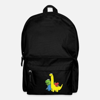 First Day Of School Dino Gang, Colored - Backpack
