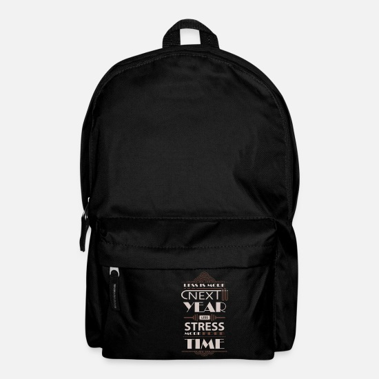 New Years Resolutions Bags & Backpacks - Good intent workaholic free time gift - Backpack black