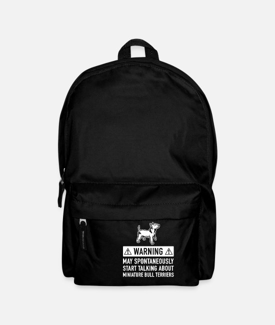 Great Dane Bags & Backpacks - Funny Miniature Bull Terrier Gift Idea - Backpack black