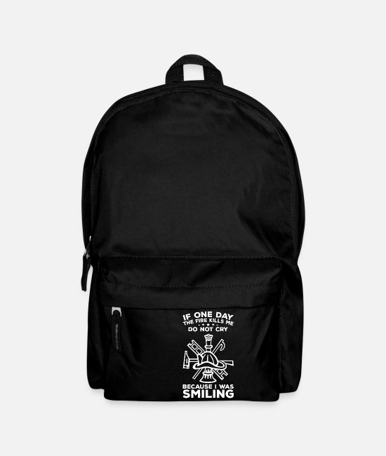 Fire Department Bags & Backpacks - Firefighter - Fire Department - Gift - Backpack black