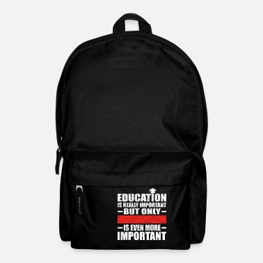Education Culture PERSONALIZABLE education important education is imp - Backpack