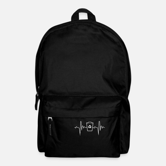 Love Bags & Backpacks - Ecology heartbeat poison - Backpack black