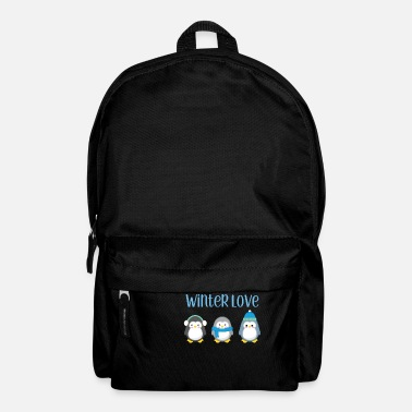 Winter Penguin - Winter - Gift - Sweet - Penguins - Backpack