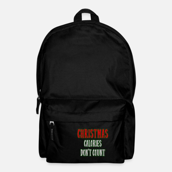 Christmas Bags & Backpacks - Christmas Calories Don't Count - Funny Calories - Backpack black