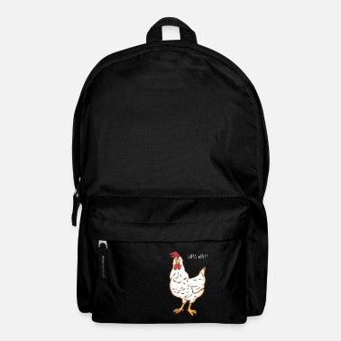 Chicken Chickens suspect - question - chicken - rooster - Backpack