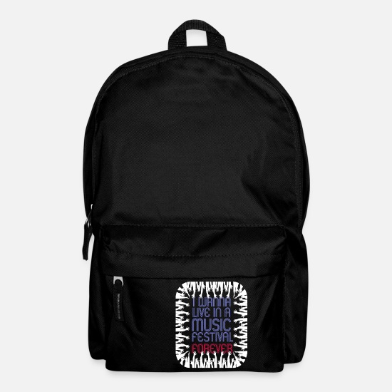 Gift Idea Bags & Backpacks - Music Festival Open Air Concert Fan Gift - Backpack black