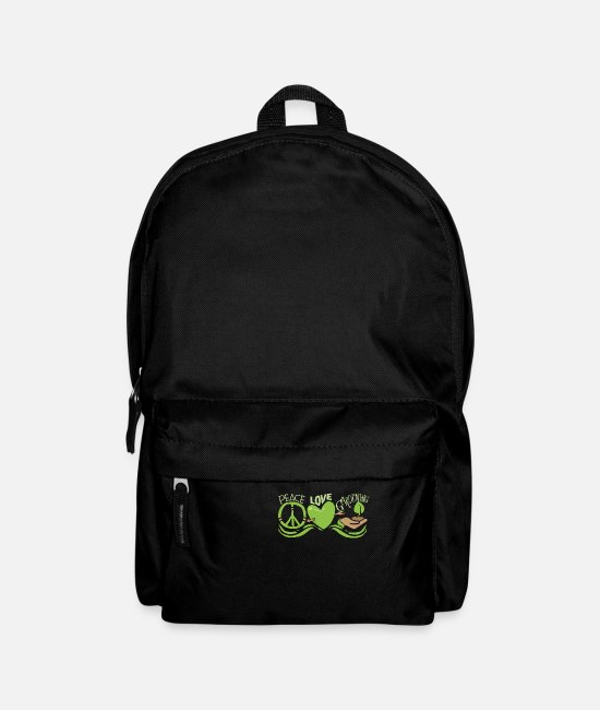 Garden Bags & Backpacks - Peace Love Gardening Horticulture - Backpack black
