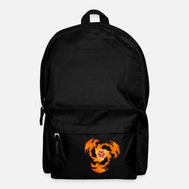 Fire Dragon Dice D20 W20 Dungeon RPG Gift - Backpack
