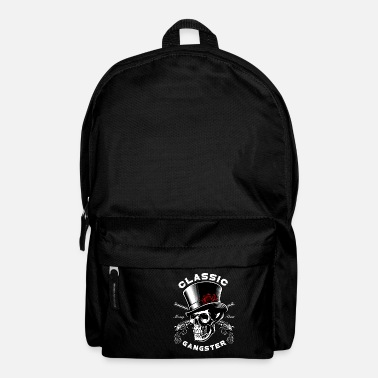 Gang Mafia boss gangster skull gentleman gift - Backpack