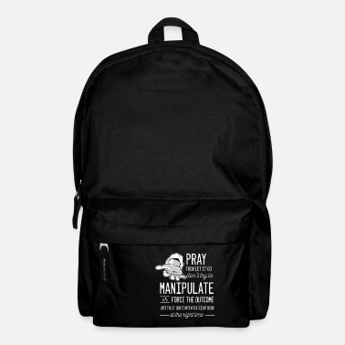 Religious Hand quote religious person gift - Backpack
