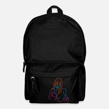 Woman lady neon - Backpack