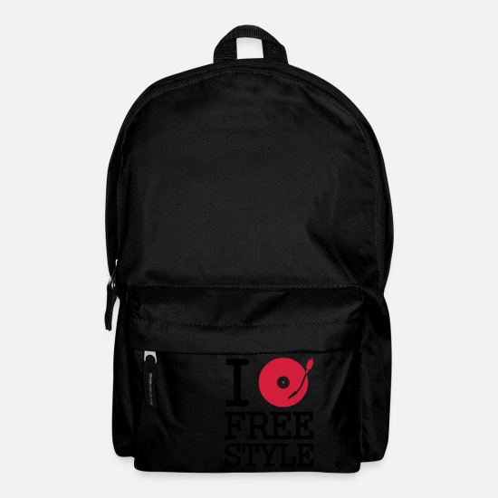 Free Bags & Backpacks - I dj / play / listen to freestyle - Backpack black