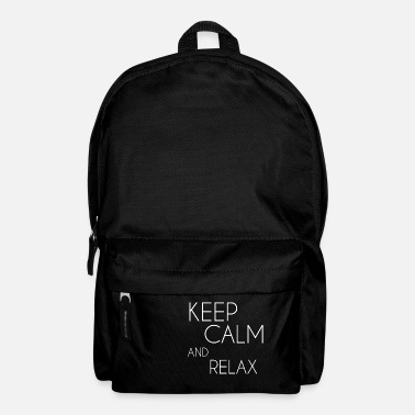 Keep Calm and relax white - Backpack