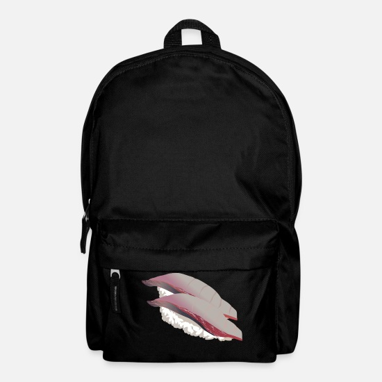 Seafood Bags & Backpacks - sushi rice rice chopsticks food food japan46 - Backpack black