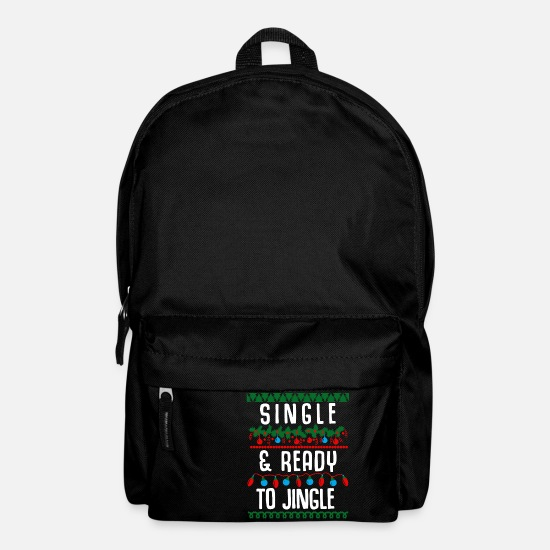 Snowman Bags & Backpacks - Single and ready to jingle - Backpack black