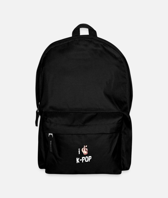Korea Pop Music Bags & Backpacks - I Love Kpop Korean music gift idea Korea - Backpack black