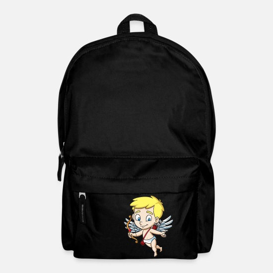 Love Bags & Backpacks - Cupid With Bow - Backpack black