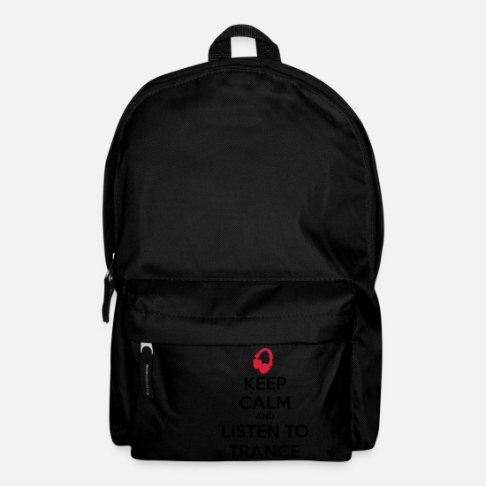 Hardstyle Bags & Backpacks - Keep Calm And Listen To Trance - Backpack black