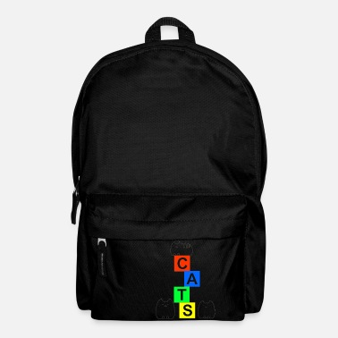 Cute cats and blocks - Backpack