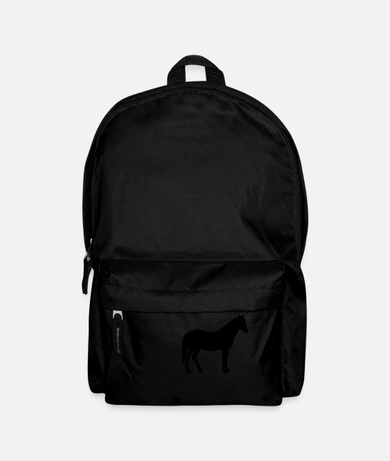 Paper Cutting Bags & Backpacks - Stallion horse silhouette | gift - Backpack black