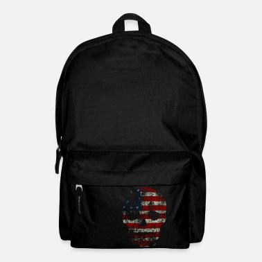 Psychobilly American skull - Backpack