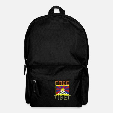 Dictatorship Free Tibet China oppression protest flag - Backpack