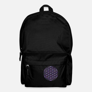 Sacred Geometry Flower of life Indigo 3D - Backpack