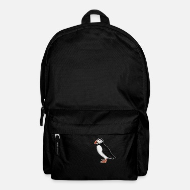 Ornithology jz.birds puffin bird design illustration - Backpack