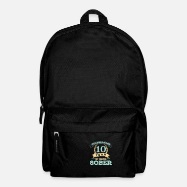 Production Year I have been sober for 10 year print celebrating - Backpack