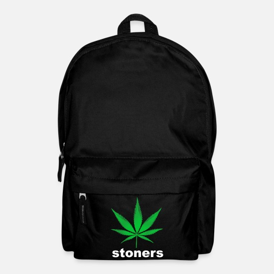 Hemp Bags & Backpacks - Stoners hemp leaf grass pothead smoking weed hash - Backpack black