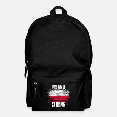 Splatter Poland Strong Distressed Graffiti Flag - Backpack