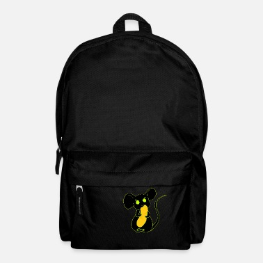 angry mouse eating neon - Backpack