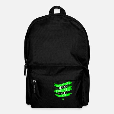 Enviromental govegan enviromental nature conservation happy idea humor - Backpack