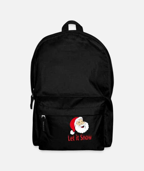 Christmas Bags & Backpacks - Santa Claus Let it Snow Christmas XMAS design - Backpack black