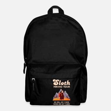 Running Sloth Hiking Team - Retro Vintage Mountains Hike - Backpack