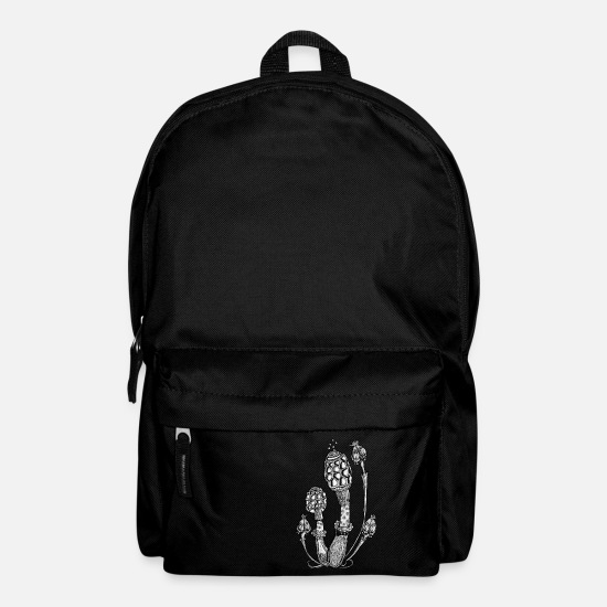 Rave Electro Summer Bags & Backpacks - Magic Mushrooms, Design, Illustration, Goa, Trance - Backpack black