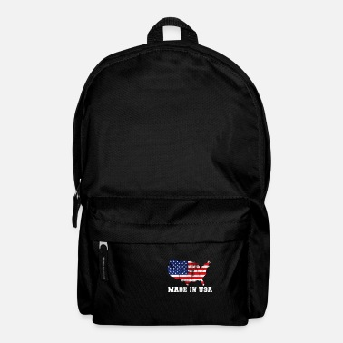 Map Made in USA Map Map - Backpack