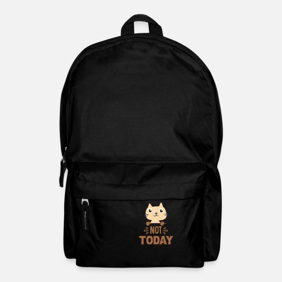 Humour Bags & Backpacks - Cat not today - Backpack black