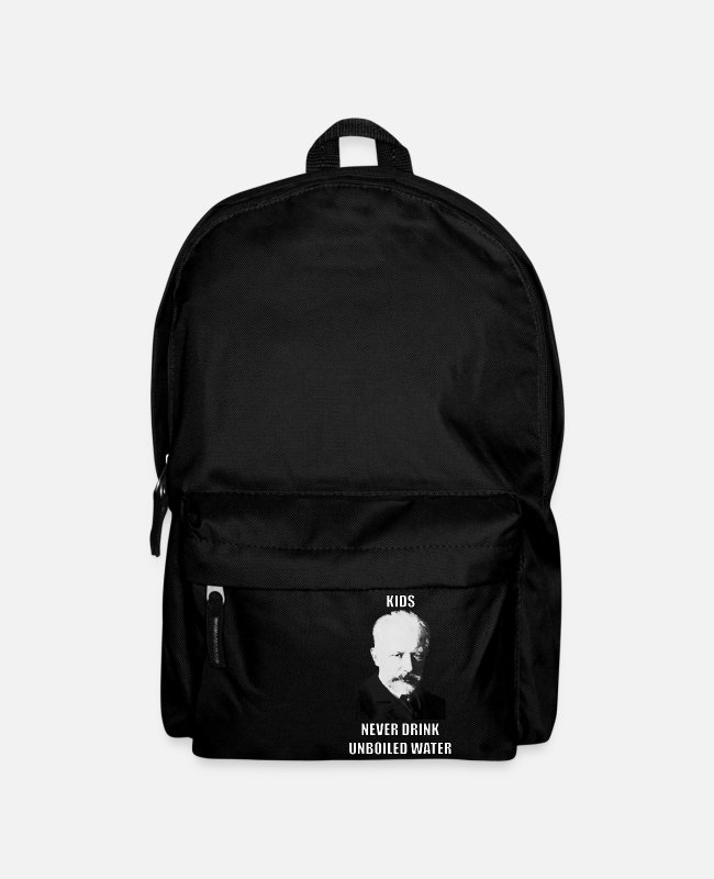 "Water Bags & Backpacks - Classical Music Meme Tchaikovski ""Unboiled Water"" - Backpack black"