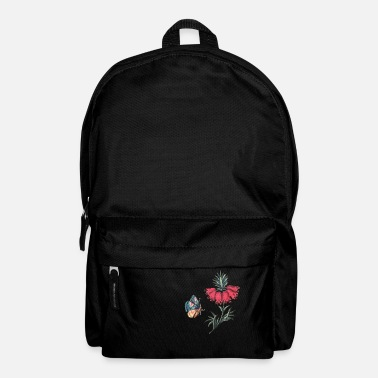 Flying butterfly with flowers - Backpack
