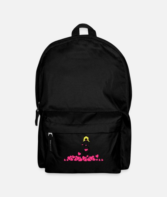 Wife Bags & Backpacks - pinup toon (A, 3c) - Backpack black